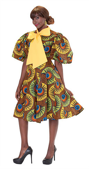 For Her 8665 Print Dress