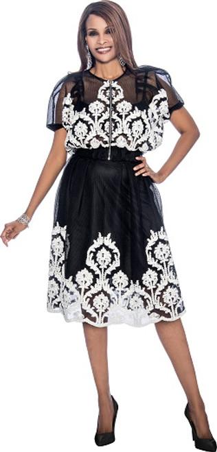 Susanna 3798 Skirt Set - Black White