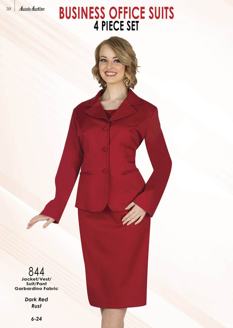 Aussie Austine 844 4Pc Business Suit