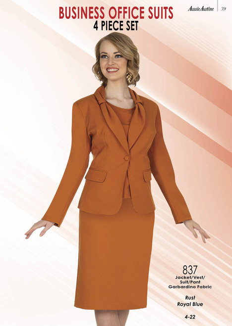 Aussie Austine 837 Women 4Pc Suit