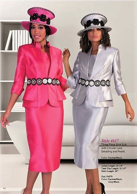 Tally Taylor 4617 3Pc Skirt Suit