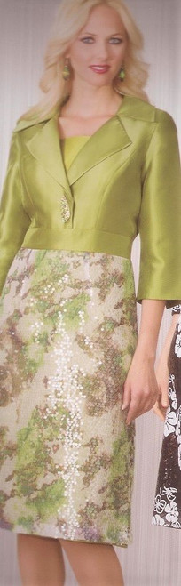 Lily Taylor 2960 Dress - Apple Green