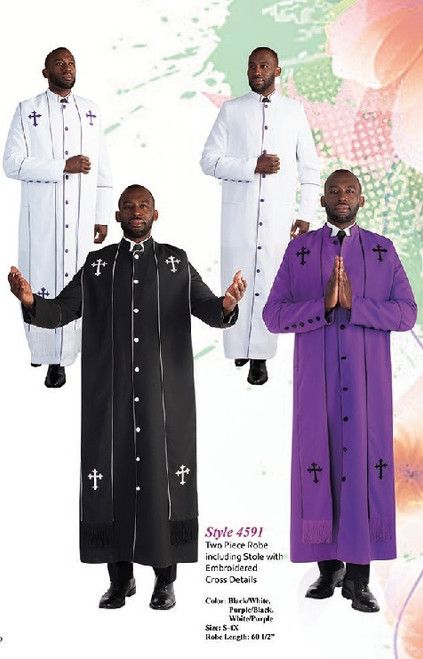 Tally Taylor 4591 Mens Clergy Robe