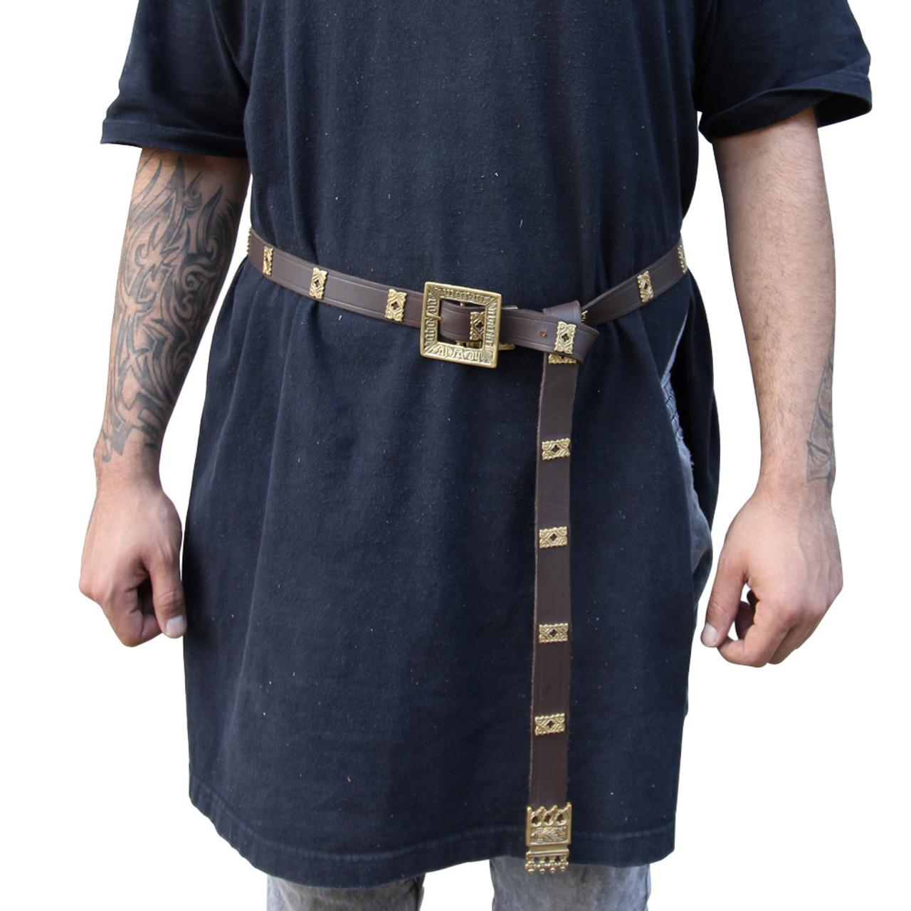 Quatrefoil Medieval Handmade Leather Belt