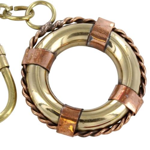 Solid Brass Life Saver Keychain