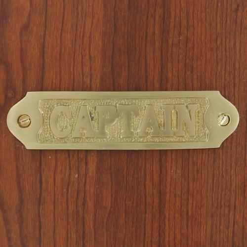 Handmade Brass Captains Quarters Plate Sign