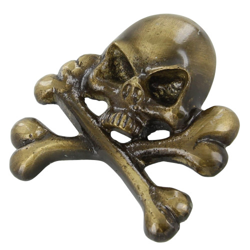 Brass Jolly Roger Pirate Hat Ornament