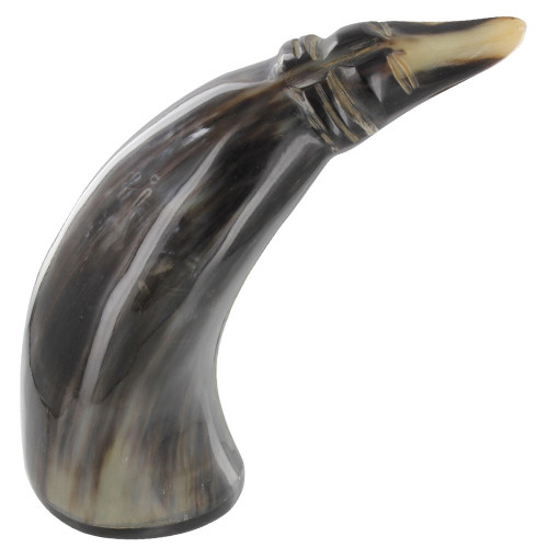 Carved Afghan Hound Cow Horn Paperweight