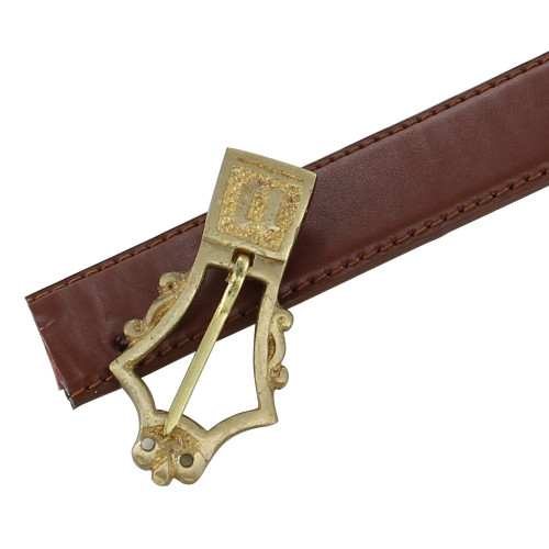 Monogramed Medieval Brass Buckle
