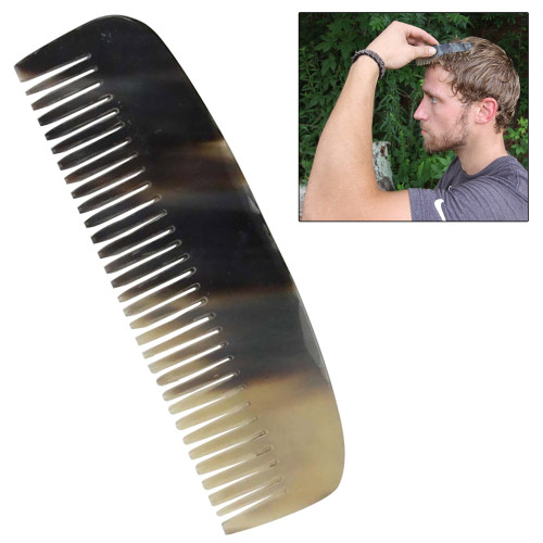 Natural Buffalo Horn Carved Medieval Renaissance Comb