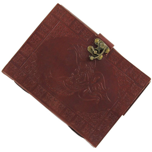 Celtic Lovebirds Handmade Leather Journal