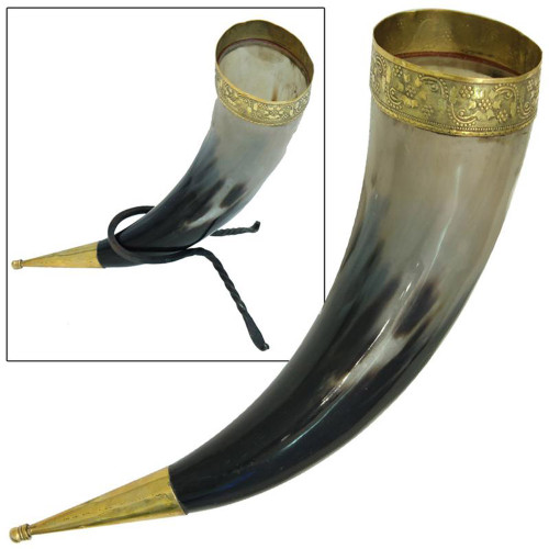 Viking Wedding Ceremonial Drinking Horn