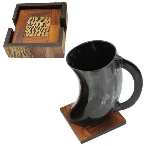 Viking Dining Hall Horn Beer Mug