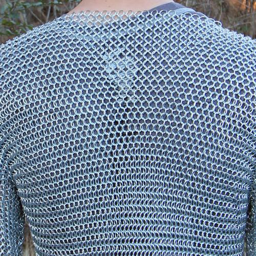 Medieval Knights Full Sleeve Hauberk Chainmail Large
