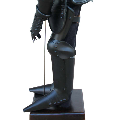 Medieval Mini Black Knight 14th Century Statute