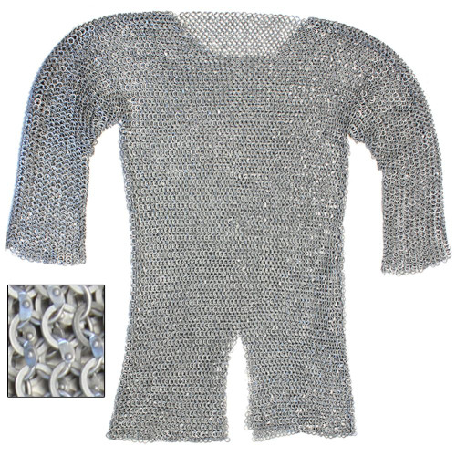 Re-enactment Aluminum Hauberk Chainmail Ex-Large