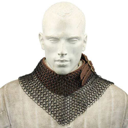 Blackened Chainmail Bishops Mantle Collar Armor