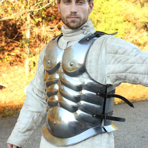 Forged Roman Conqueror Muscle Cuirass Body Armor