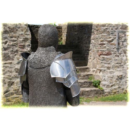Steel Warrior Pauldron Medieval Shoulder Armor Set