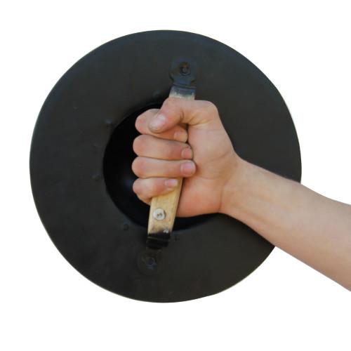 Simple Blackened Medieval Archers Buckler Shield