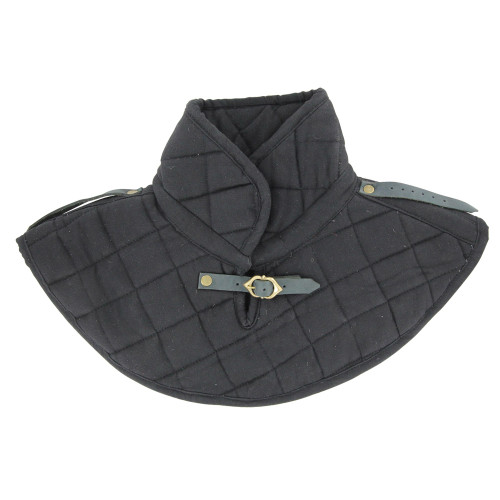 Cotton Armor Padding Collar Medieval Garment Black