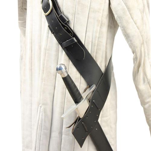 Queens Guard Medieval Baldric Belt Black