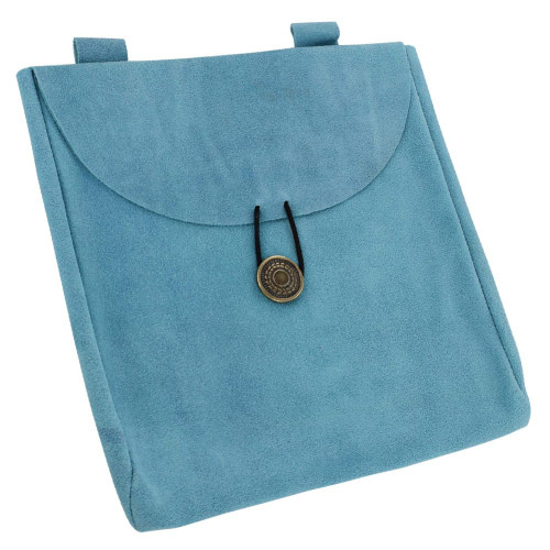 Sapphire Lights Large Suede Leather Pouch