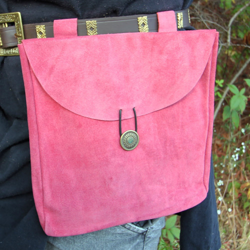 For the Love of Pink Suede Leather Pouch