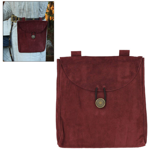 Taste of Red Wine Suede Leather Pouch
