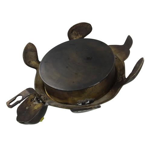 Vintage Tortoise Clock Antique Brass