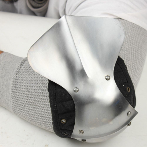 Medieval Rounded Polished Steel Elbow Armor