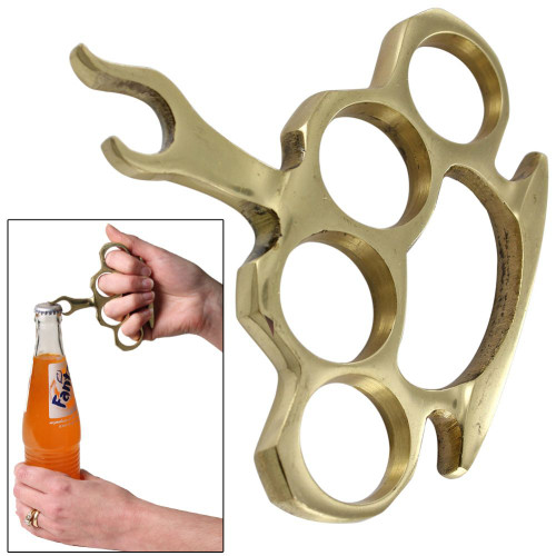 Liquid Courage Brass Knuckle Bottle Opener