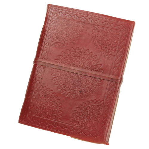 Steampunk Medieval Circular Embossed Leather Journal Diary