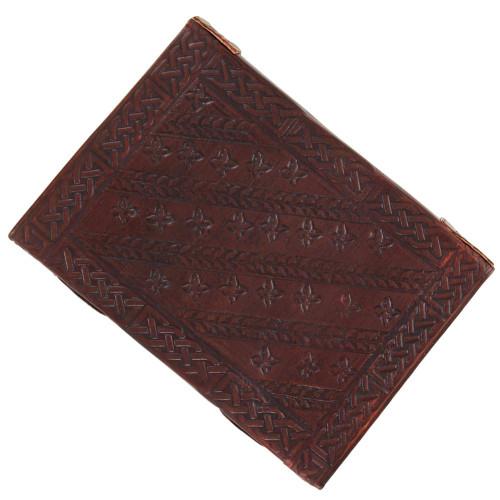 Celtic Fleur De Lis Handmade Leather Journal