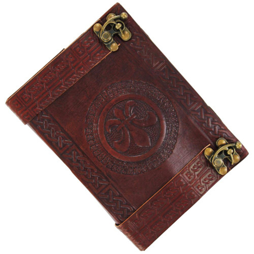 Celtic Fleur De Lis Handmade Leather Journal