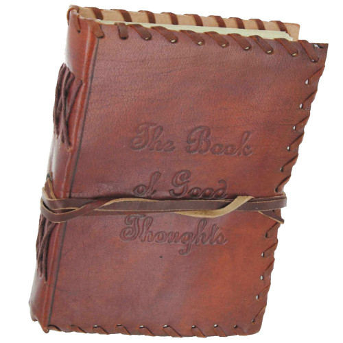 The Book of Good Thoughts Handmade Leather Journal