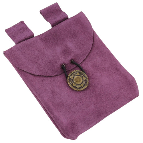 Subconsciously Conscious Violet Suede Leather Pouch