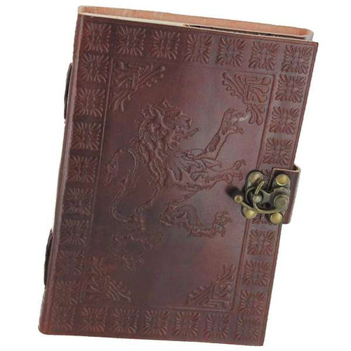 Handmade Leather Journal Rampant Lion