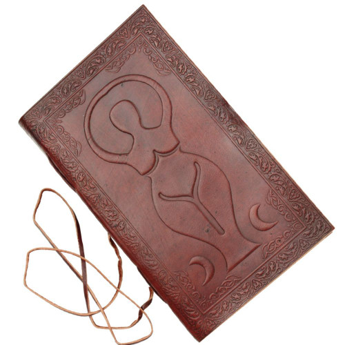 Triple Goddess Embossed Leather Journal