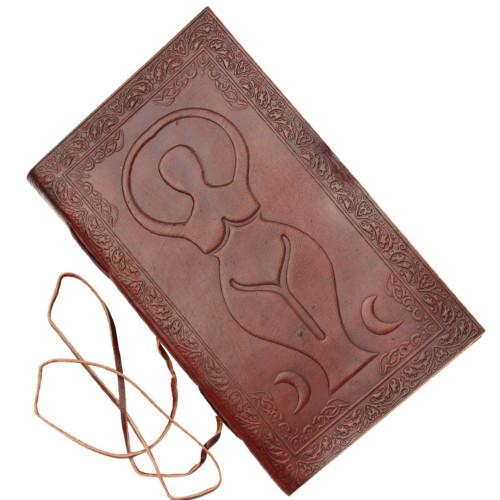 Triple Goddess Embossed Leather Journal