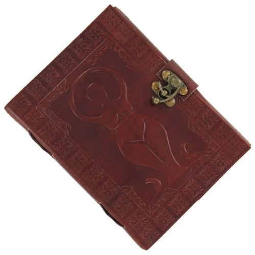 Goddess Trio Pentagram Embossed Leather Journal