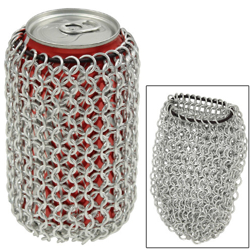 Chainmail Can Koozie Bag