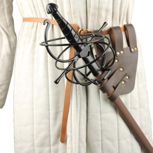Genuine Leather Medieval Sword Frog
