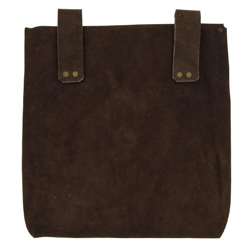 Medieval Renaissance Leather Brown Suede Pouch Large