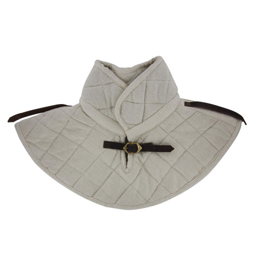 Cotton Padding Collar Armor Medieval Garment White