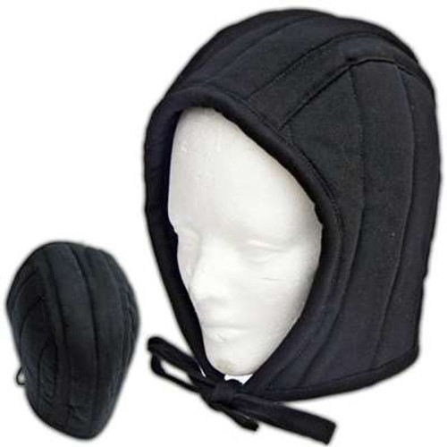 Cotton Padded Coif Arming Cap Black