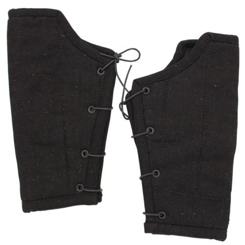 Medieval Padded Cloth Bracers - Black