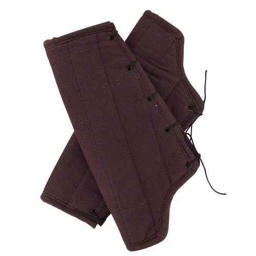 Medieval Padded Cloth Bracers - Brown