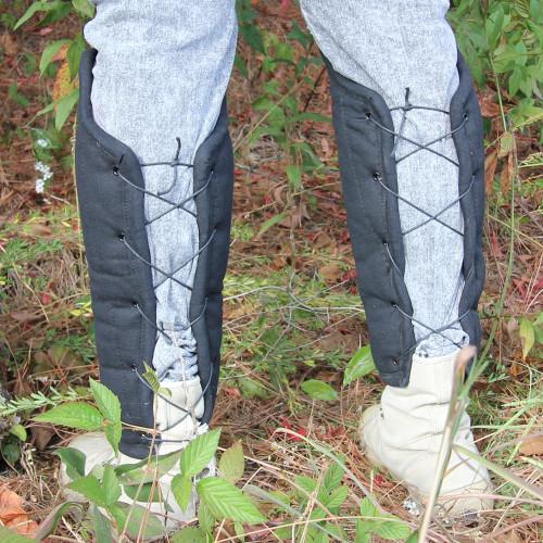 Padded Cotton Battle Cry Full Leg Greaves Set