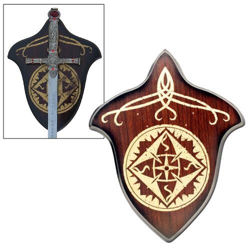 Elegant Hardwood Universal Sword Plaque